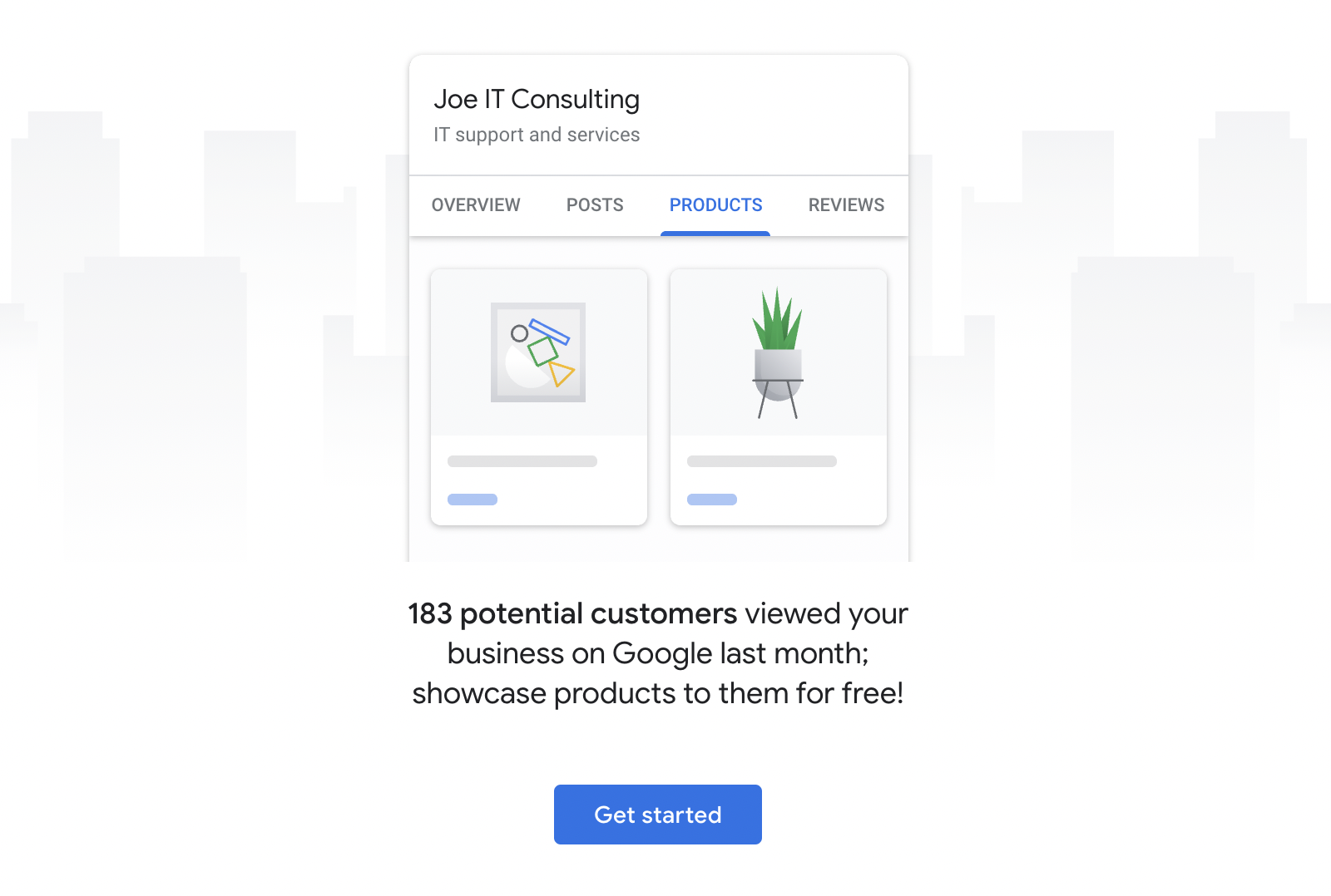 Google My Business Products