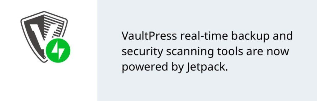 screenshot of vaultpress plugin